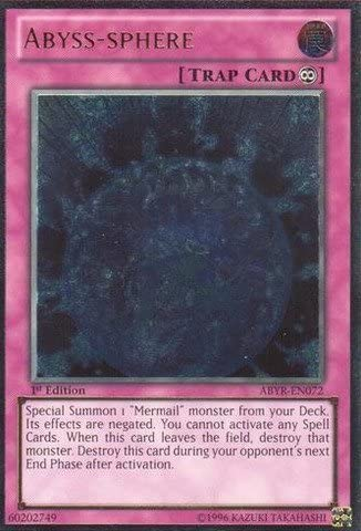 *** ABYSS-SPHERE *** 3 AVAILABLE ULTIMATE RARE FIRST ABYR-EN072  YUGIOH!