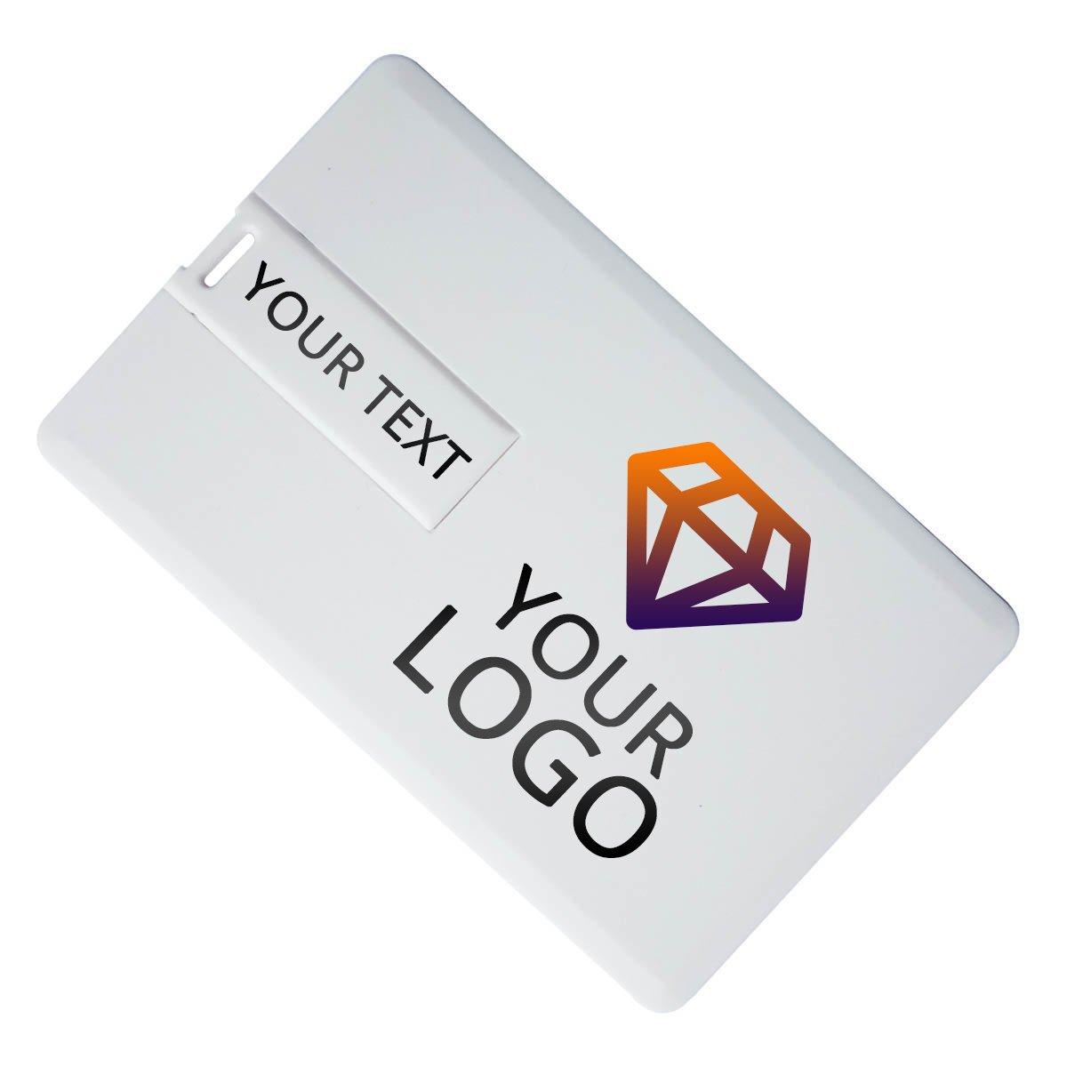 Custom Printed Business Card USB Flash Drive 100 PCs (16GB)