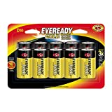 Eveready Gold D Cell Alkaline Batteries, 10 Count
