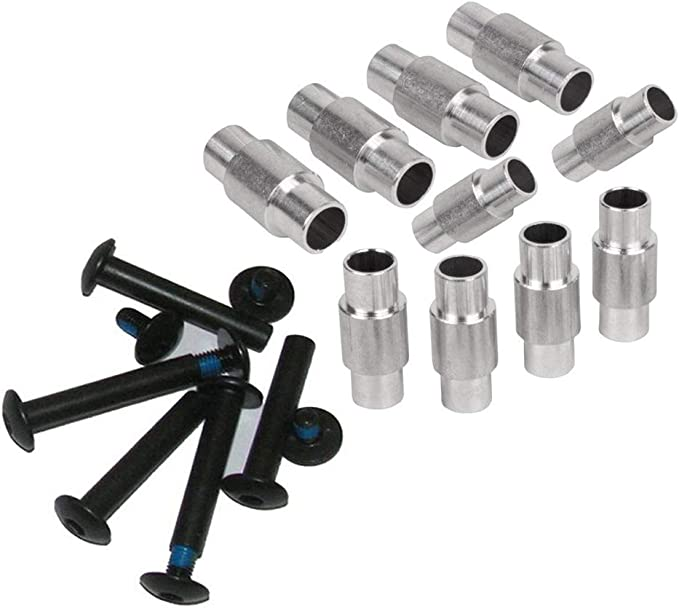 set of 10 straight thru step down Inline skate axles and spacers