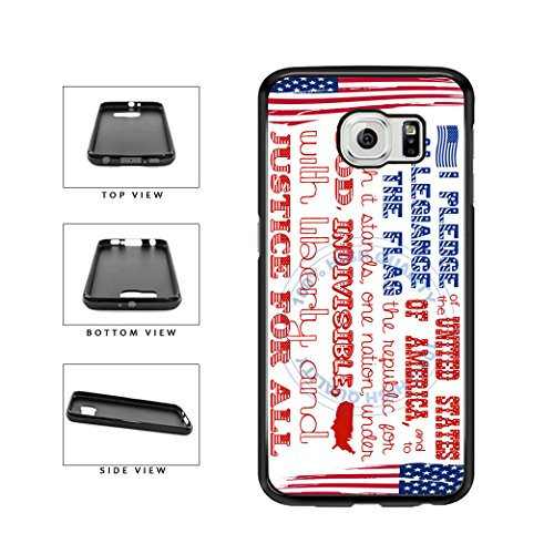 BleuReign(TM) The Pledge Of Allegiance TPU RUBBER SILICONE Phone Case Back Cover For Samsung Galaxy S7 (Red Rubber Allegiance)