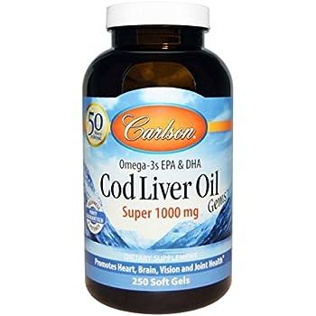 Carlson super 1000mg cod liver oil 250 for Carlson fish oil amazon