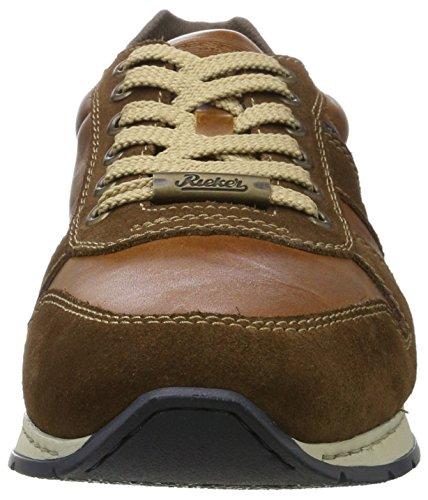 Rieker Herren 19410 Sneaker Braun (Sattel/tabak/pazifik)