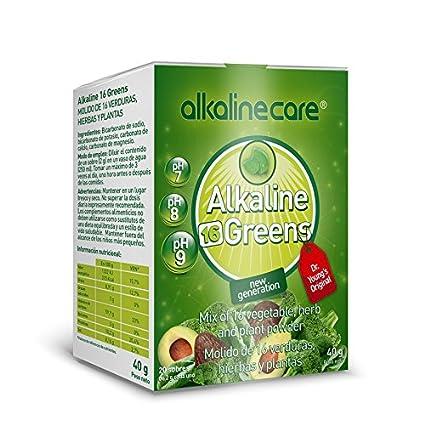 BATIDO VERDE ALKALINE GREENS (molido de 16 verduras, hierbas y plantas) 20 sobres