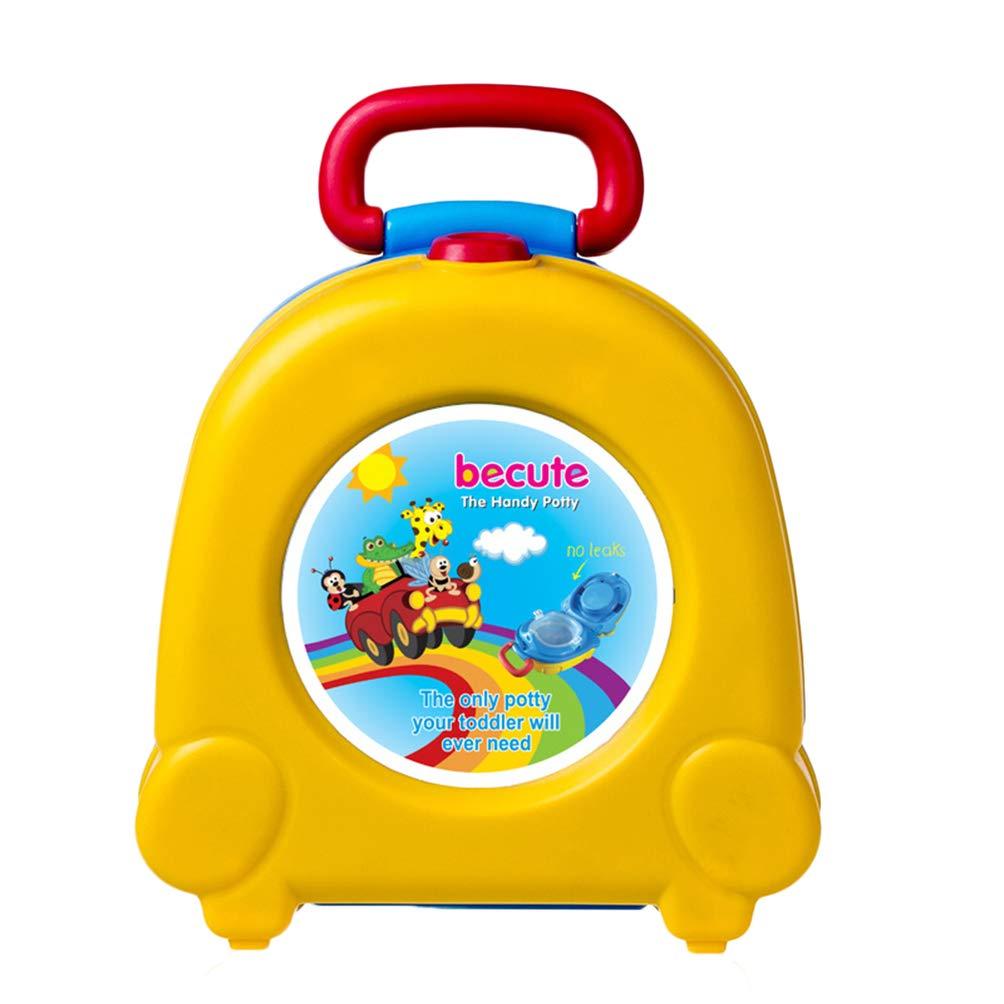 STOBOK Baby Toilette Niedlich Tragbar Karikatur Reise T/öpfchen Auto Kinder T/öpfchen Training M/ädchen Junge Toilette im Freien Gelb