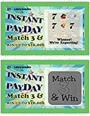 Scratch Off Pregnancy Announcement Lotto Scratcher Replica Card~ Pack Of 10