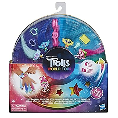 DREAMWORKS TROLLS Tiny Dancers Greatest Hits, 6 Collector Figures, Necklace, 2 Bracelets, and More, Toy Inspired by Trolls World Tour: Toys & Games