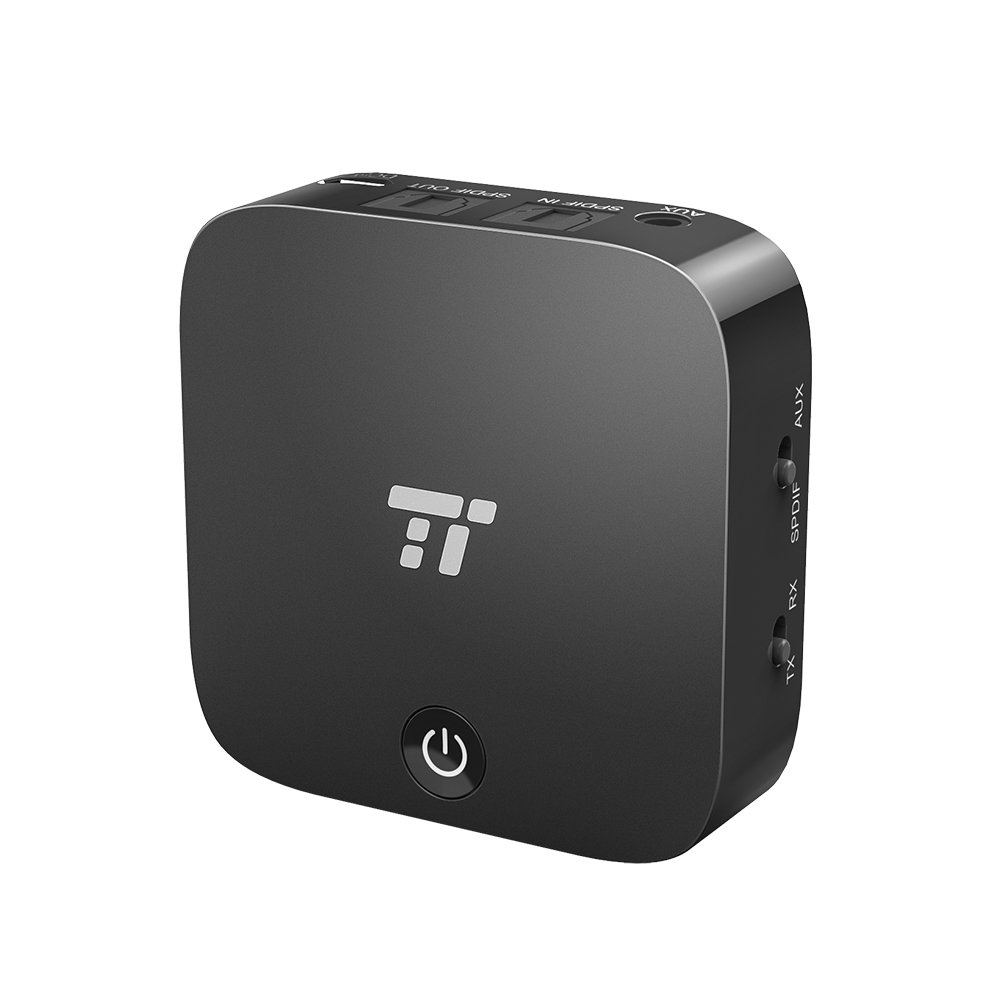 TaoTronics Bluetooth 5.0 Transmitter and Receiver, Digital Optical TOSLINK and 3.5mm Wireless Audio Adapter for TV/Home Stereo System - aptX Low Latency by TaoTronics