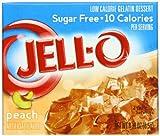 Jell-O Sugar-Free Gelatin Dessert, Peach, 0.30-Ounce Boxes (Pack of 24)