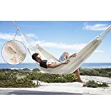 The hammock made of 100% parachute Fabric and with mosquito net make your camping avoid the insects, mosquitoes, reptiles and ants.   Specification Material: Nylon Weight Capacity: Up to 150Kg (330Pounds) Color:WhiteSize: (Approx )240cm x 120cm   How...