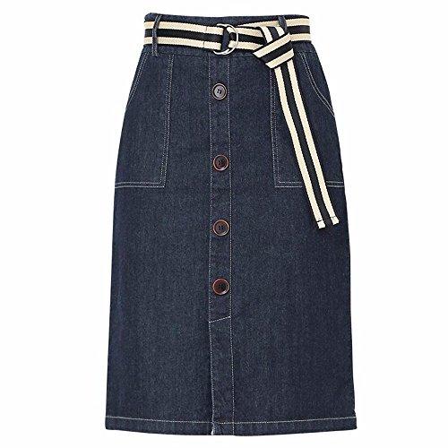 QPSSP Jeans, Longue Taille, Hanche, Robe, Jupe Et Une Jupe. Blue