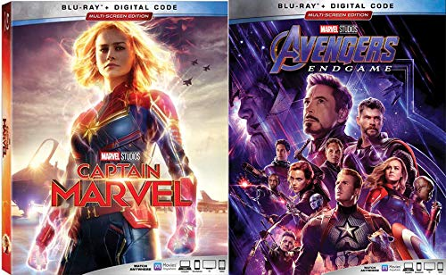 Galactic Hero War Avengers Captain Marvel Movie Collection Endgame Assemble Rise Unite Blu Ray Digital Double Feature