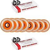 Labeda Millennium Gripper HILO Orange Hockey Inline Wheels 76mm 80mm SOFT Swiss