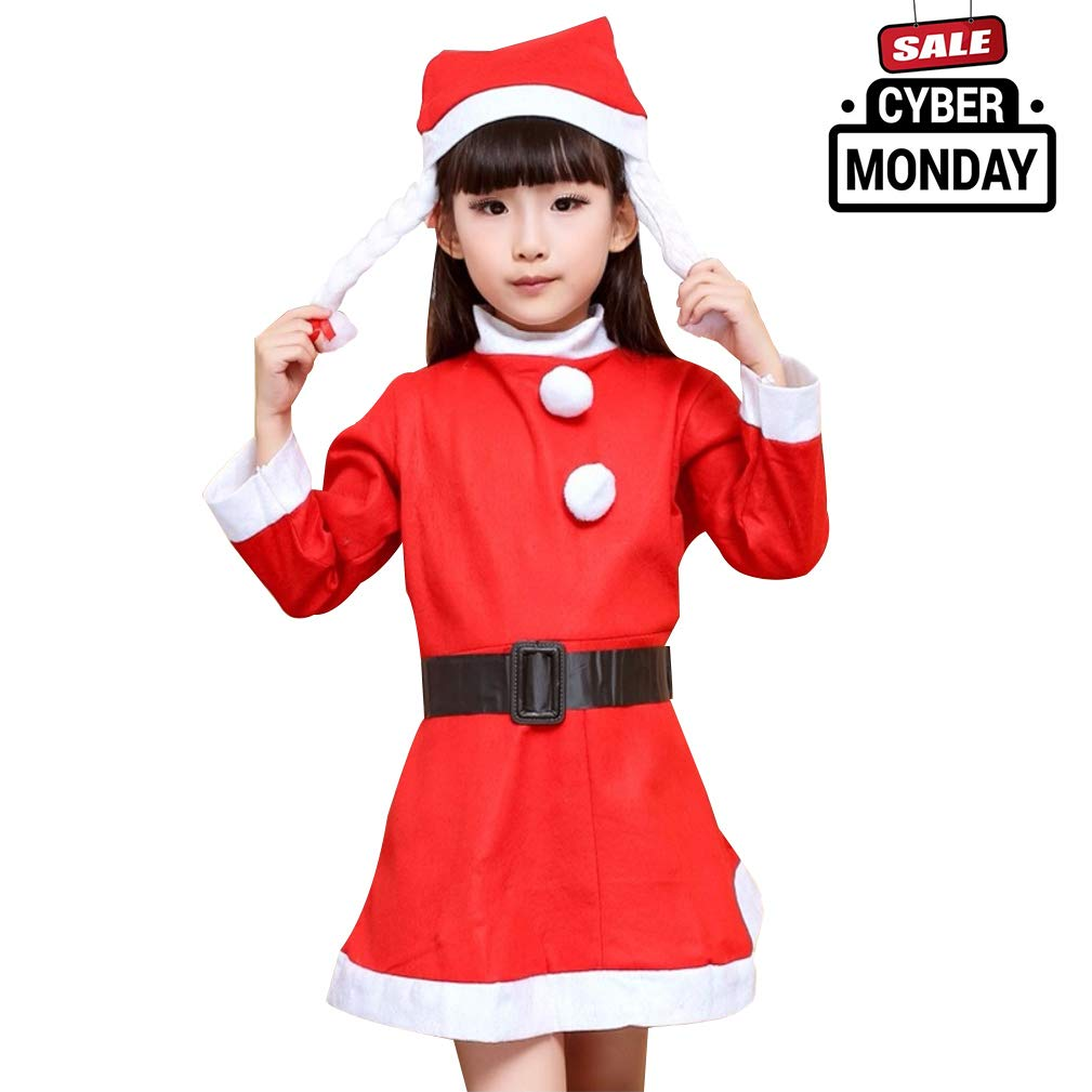 4ba7001ca Amazon.com: Make you perfect Christmas Costume Kids Clothes Santa Suit  Toddler Santa Claus Suit for Baby Girl Children Outfit Dress¡: Clothing