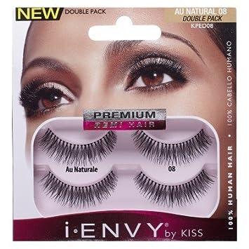 2ce09ac8307 Amazon.com : Kiss I Envy Au Naturale 08 Double Pack Lashes (3 Pack) : Beauty