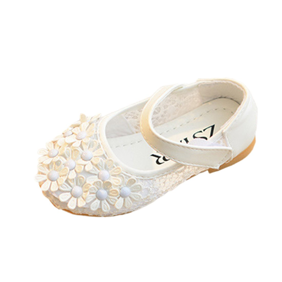 YIBLBOX Kids Girls Ballet Flats Shoes Mary Janes Wedding Party Flowers Princess Dress Toddler Shoes