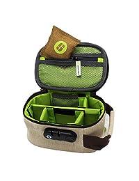 STASHLOGIX EcoStash - Locking Stash Bag with Odor Control (Medium, Hemp)