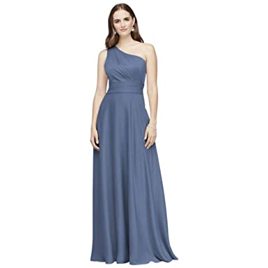 3503585a3ed David s Bridal Satin Crepe One-Shoulder Bridesmaid Dress Style OC290063 at  Amazon Women s Clothing store