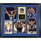 "Golden State Warriors Stephen Curry""CHAMP & MVP"" Collage Patch Display (SGA Signature Engraved Plate Series) Framed"