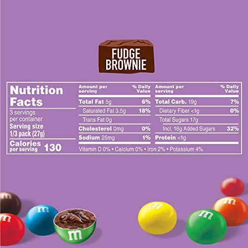 M&M'S Fudge Brownie Share Size Chocolate Candy, 2.83 oz (10040000555442)
