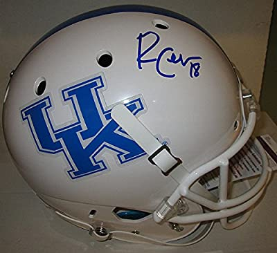 Wildcats Randall Cobb Autographed Fs Schutt Kentucky White Replica Helmet Auto - JSA - Certified Authentic