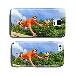 Save by playing beach volleyball cell phone cover case Samsung S6