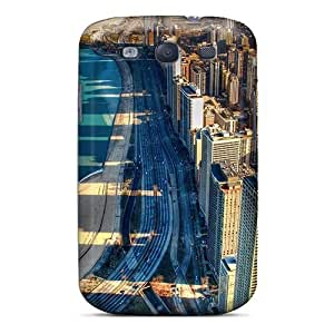 Galaxy S3 Case Cover Skin : Premium High Quality City By The Seashore Case