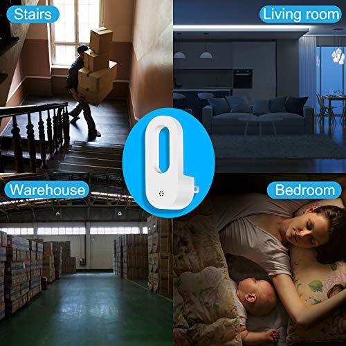 2 Pack LED Night Light Warm White Dusk-to-Dawn Night Light Wall Lights Plugin for Baby Kids Children's Room Nurseries Stair Hallway