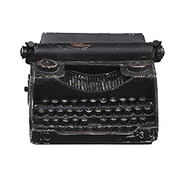 Elegante Antiguo - Fábrica Máquina de Escribir para Deco Antiguo Negro: Amazon.es: Hogar
