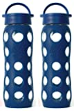 2-Pack Lifefactory 22-Ounce Beverage Bottles (Midnight Blue)
