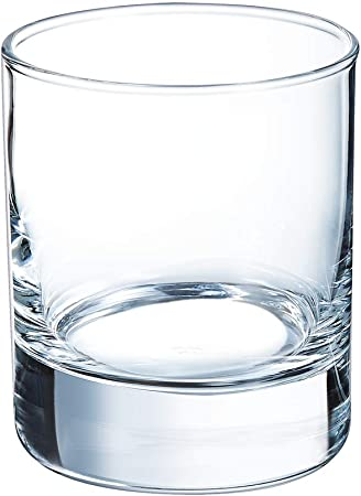Arcoroc Islande FB20 Pack de 6 vasos de vidrio para Whiskey, 200 ml