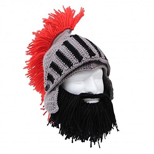 Barbarischer Ritter Bartmütze - Beard Head Mütze Barbarian Knight Strickmütze Ski
