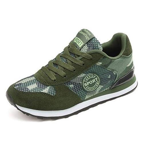 Mujeres camuflar Zapatos Casuales Planos al Aire Libre Lona Zapatos Mocasines Zapatos de Entrenamiento Antideslizante Zapatillas Unisex Adulto: Amazon.es: ...