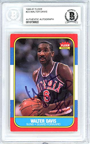 - Walter Davis Autographed 1986 Fleer Card #23 Phoenix Suns Beckett BAS #10736922 - Beckett Authentication