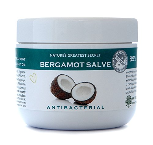 Natures Greatest Secret - Soothing Bergamot Formula - Antibacterial, Antifungal Colloidal Silver and Coconut Oil Formula - Soothing Skin Treatment - 100ml