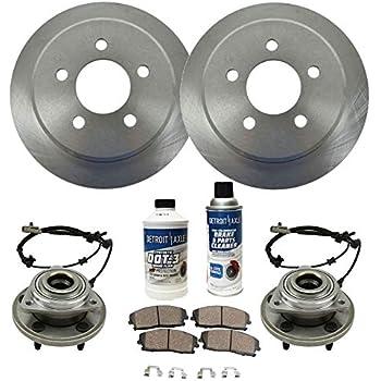 Amazon com: Detroit Axle - Front Wheel Bearing & Hub, Drilled Brake