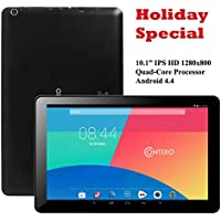 Contixo Q103 10.1' Quad Core Google Android 4.4 KitKat Tablet PC, IPS HD 1280x800 Display, 1GB RAM, Bluetooth 4.0, Dual Camera, HDMI, Google Play Pre-installed, 3D Game Supported (Black)