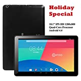 Contixo Q103 10.1'' Quad Core Google Android 4.4 KitKat Tablet PC, IPS HD 1280x800 Display, 1GB RAM, Bluetooth 4.0, Dual Camera, HDMI, Google Play Pre-installed, 3D Game Supported (Black)