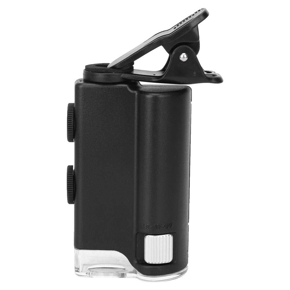 C/ámara de inspecci/ón con lupa 60-100X Microscopio LED de bolsillo de industria digital para oficina para exteriores en interiores para observaci/ón