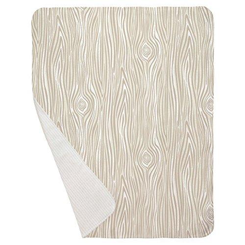 Carousel Designs Taupe Large Woodgrain Crib Blanket by Carousel Designs (Image #2)