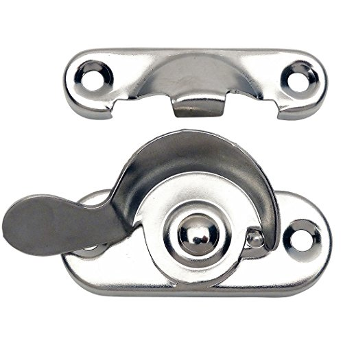 10 Pack - Designers Impressions 53737 Polished Chrome Window Sash Lock
