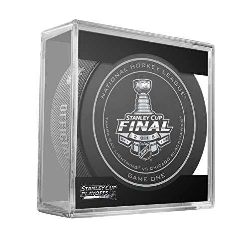 2015 NHL Stanley Cup Finals Game 1 Puck in Cube - Tampa Bay Lightning vs. Chicago Blackhawks
