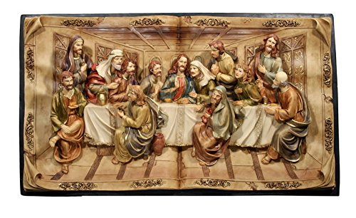 Hi-Line Gift Ltd Last Supper Wall Plaque, 16