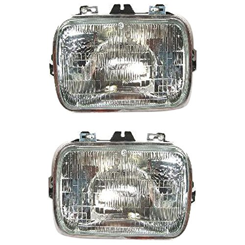 Evan-Fischer EVA13572057046 Headlight Set Of 2 For C/K Full Size P/U 78-02 / Express Van 96-17 Right and Left Side Sealed Beam Assy Halogen Capsule Style 6 X 8 In. -