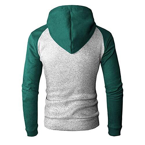 Hoodie Classique Chapeau Homme Longue Couture Rouge Veste Sanfashion Sweat Sport Manche Manteau vgY4Cqw