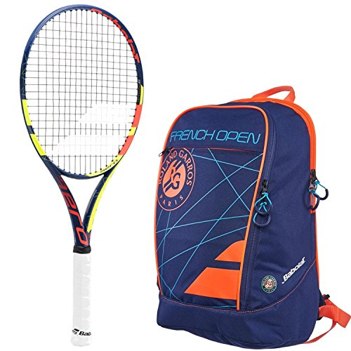 ench Open Adult Racquet (4.5) bundled with a French Open Classic Club Tennis Backpack (French Open Tennis Racquet)