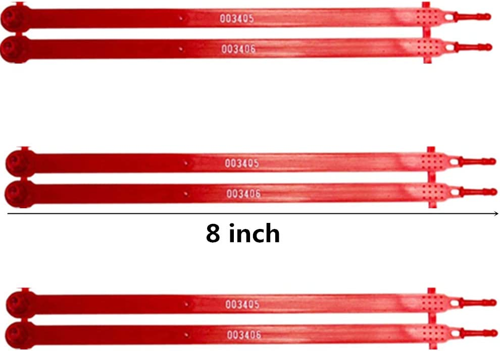 Tamper Evident Each Seal is Numbered Sequentially Use for Truck Plastic Truck Seals Trailer Package of 100, Red Container