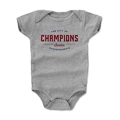 500 LEVEL Boston Baby Clothes, Onesie, Creeper, Bodysuit - 3-6 Months Heather Gray - Boston Massachusetts City of Champions