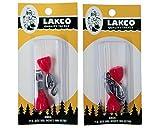 Lakco Depth Finders - 2 packs of 2=4 total - Red-Orange - #832