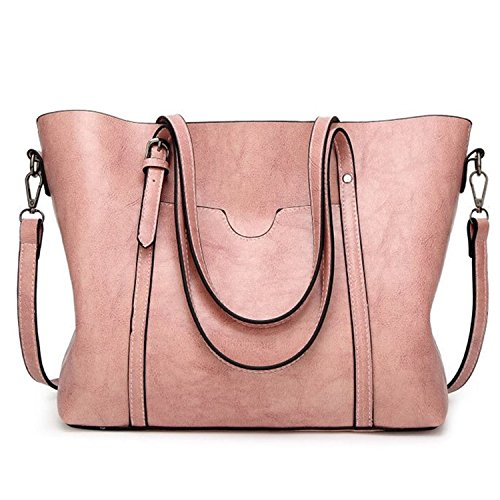 Women Top Handle Satchel Handbags Style Soft Leather Work Tote Purse Shoulder Bag Tote